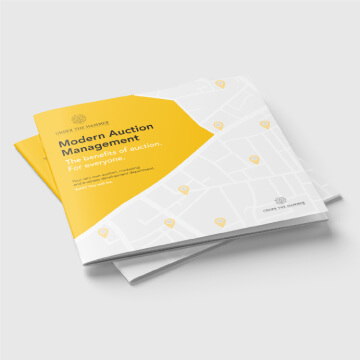 Modern auction management brochure design