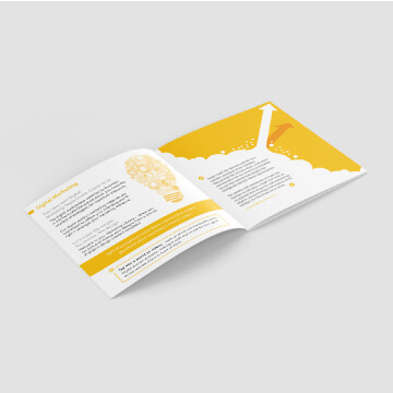 Illustration of a brochure design